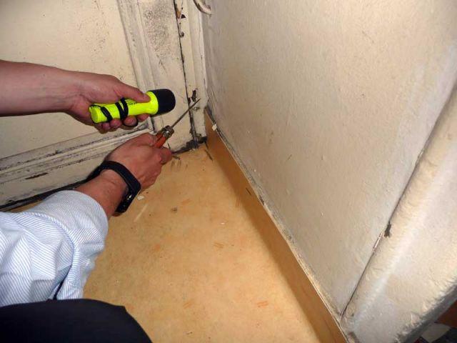 Vérification des plinthes - Diagnostic termites état parasitaire