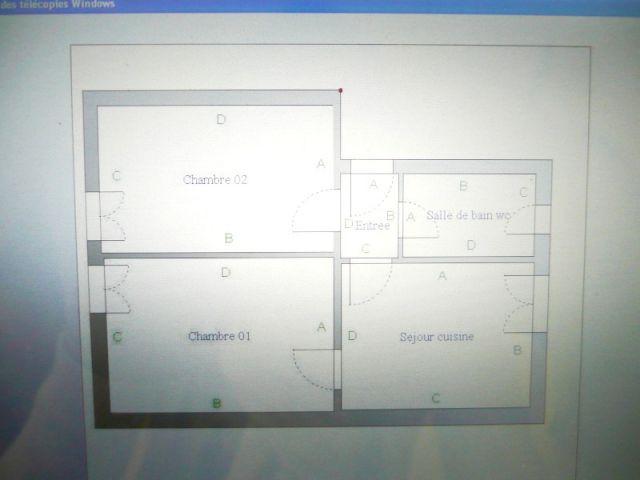 Plan réalisé par le logiciel - Loi Carrez diagnostic immobilier