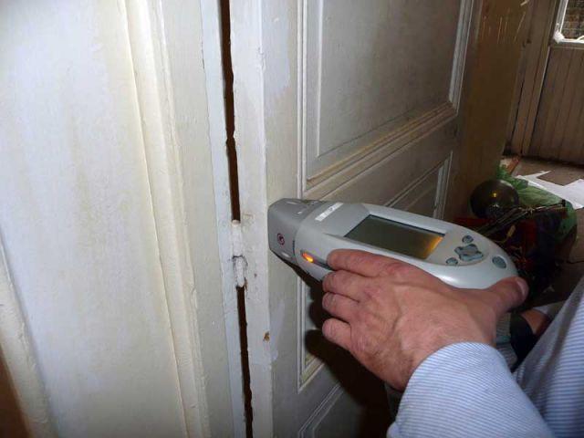 Mesures dans les portes - CREP diagnostic plomb