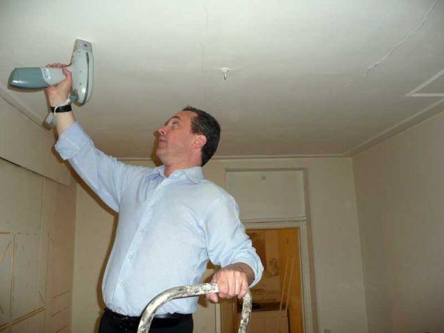 Mesures dans le plafond - CREP diagnostic plomb