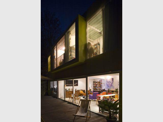 Maison d'architecte de nuit - Maison architectes