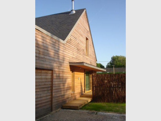 Une enveloppe en bois - reportage maison passive - Bruno Ridel