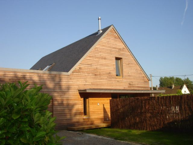 La VMC est visible sur la toiture - reportage maison passive - Bruno Ridel