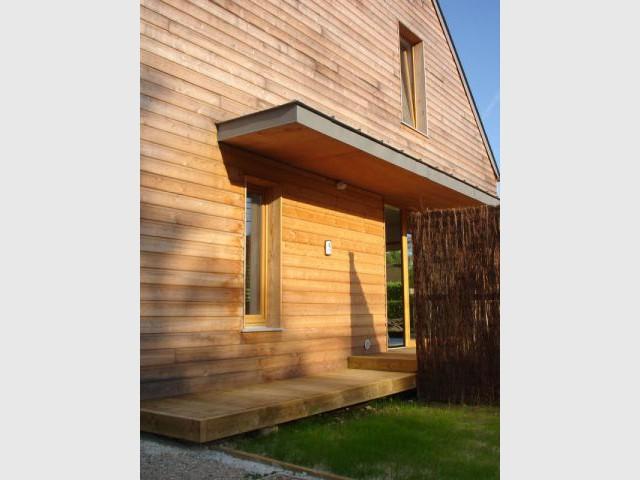 Vers la terrasse... - reportage maison passive - Bruno Ridel