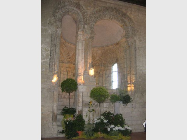 La chaire du lecteur - Prieuré de Saint-Cosme
