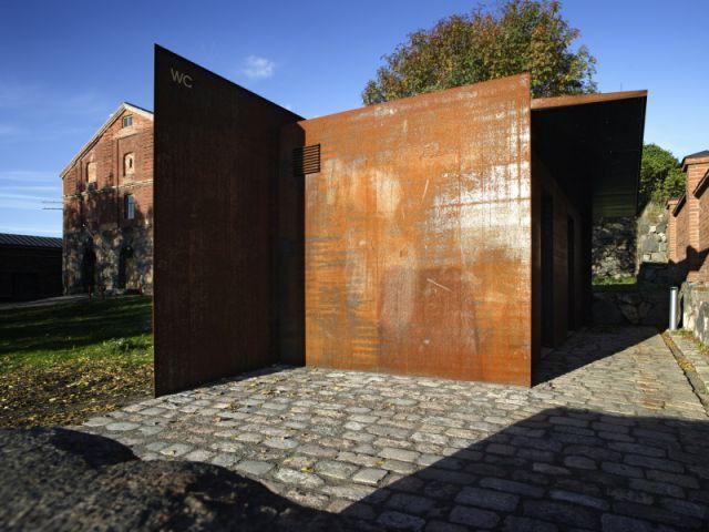Toilettes publiques - Exposition Architecture Finlandaise - Cité de l'architecture et du patrimoine