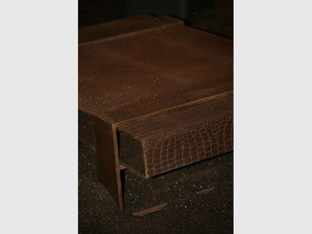 Détail de table basse - Le béton, matière de luxe