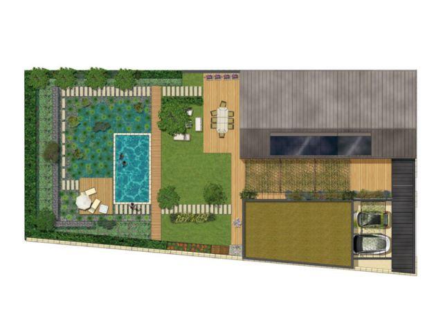 Plan de masse - programme immobilier de 31 maisons passives - Groupe MCP Promotion