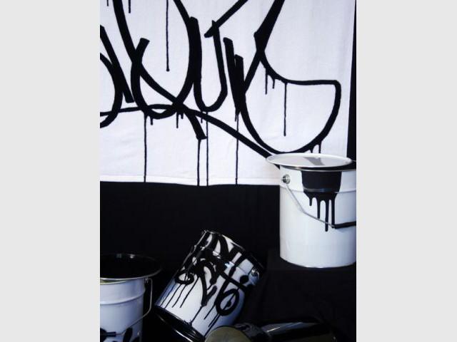 Serviette de douche - Linge de bain avec graffiti