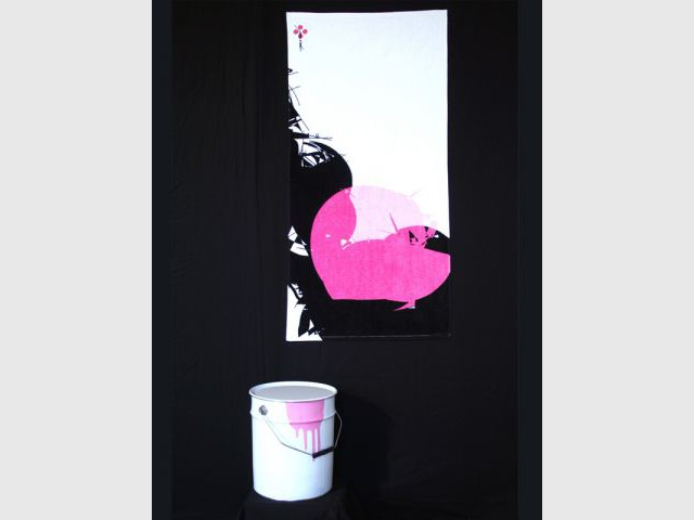 Petite serviette - Linge de bain avec graffiti