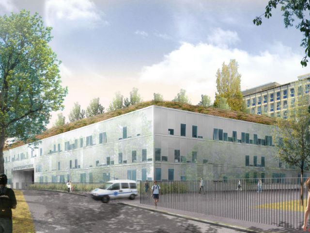Extension et restructuration du pôle mère-enfant, centre hospitalier André-Grégoire, Montreuil-sousbois(93)Jean Guervilly et Françoise Mauffret, architectes