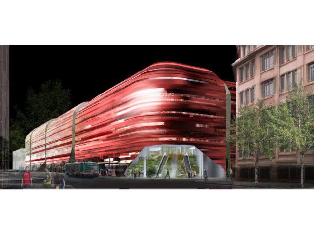 Bureaux et centre-bus, Paris 20 MÉTRA + ASSOCIÉS