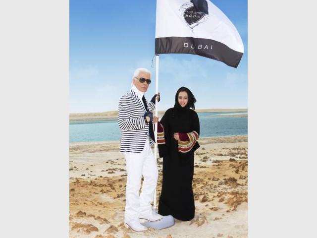 Karl Lagerfeld et Samira Abdulrazzak