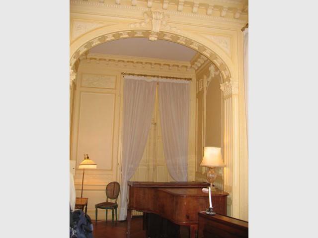 L'alcôve du salon de musique - Château de Candé