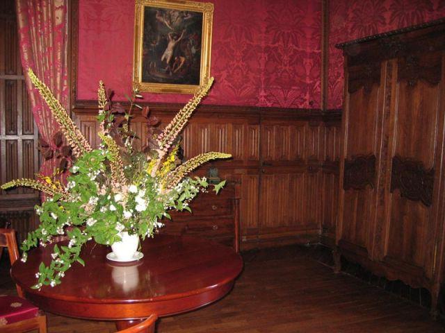 Le salon rouge - Château de Candé