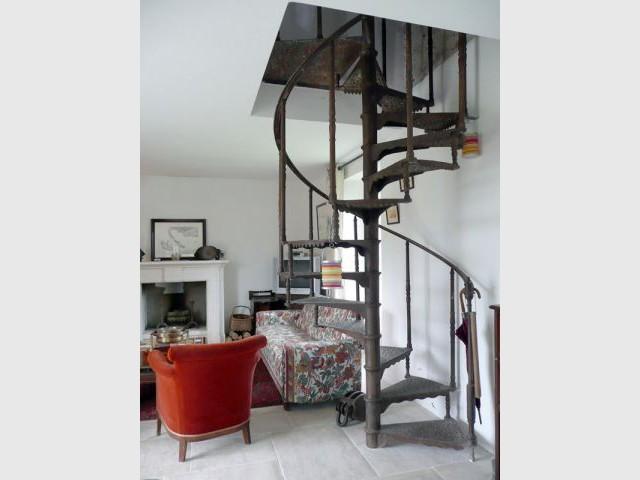 Escalier - Reportage maison Bretagne - Morbihan - Rénovation