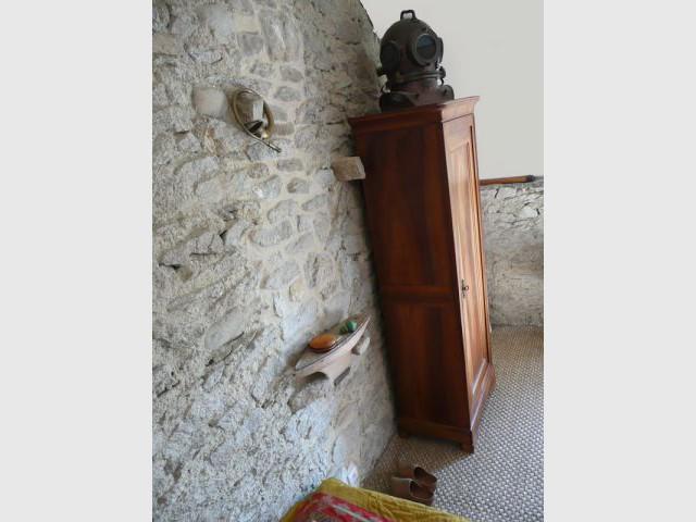 Détail chambre - Reportage maison Bretagne - Morbihan - Rénovation