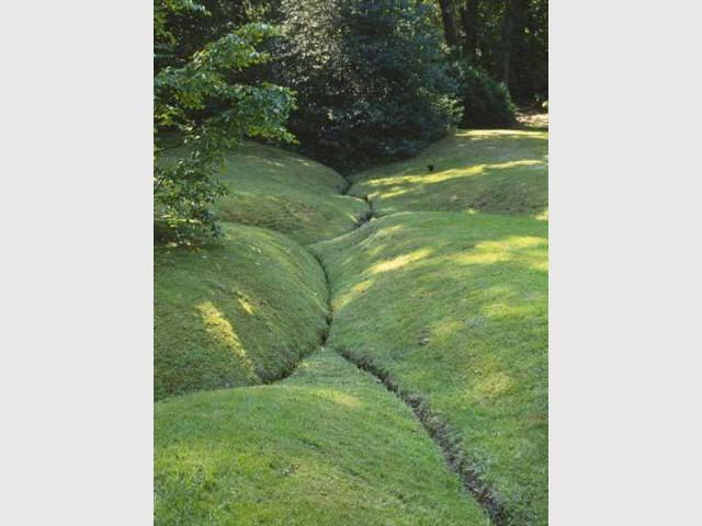 Jardin particulier sur la côte normande