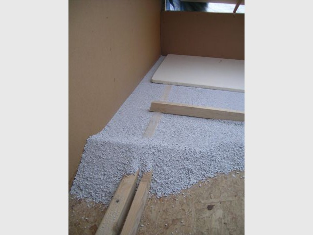 Etape 2 : Fabriquer une pente 1/3 - Toit terrasse végétalisé - étape par étape