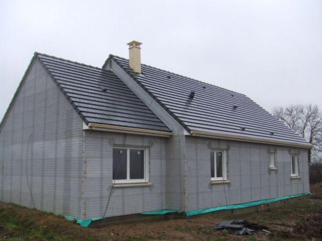 Pose de la toiture - Maison Performance - Maison confort