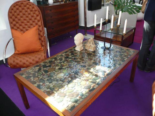 Table galets - Salon du Vintage