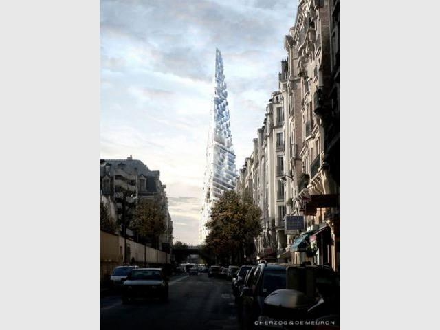 Vue de la rue de Vaugirard - triangle