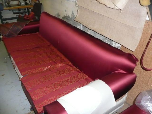 Canapé en réfection - Tapisserie - reportage - meubles