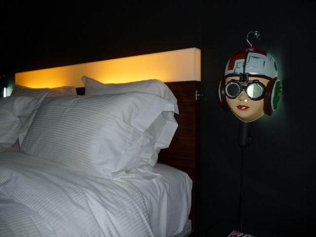 Détail chambre - Hôtel Mama Shelter - Starck