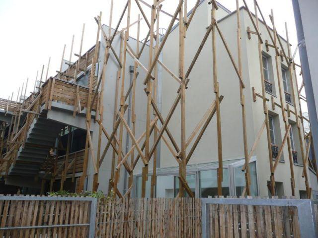 Tuteurs en bois - Programme Planchat-Vignoles - Paris