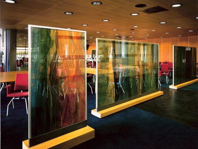 Paravents pour le Parlement européen de Strasbourg - Textile Ysabel de Maisonneuve
