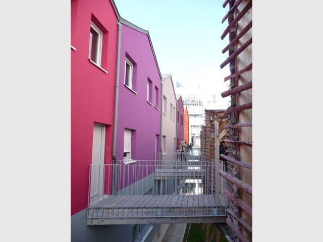Des appartements multicolores