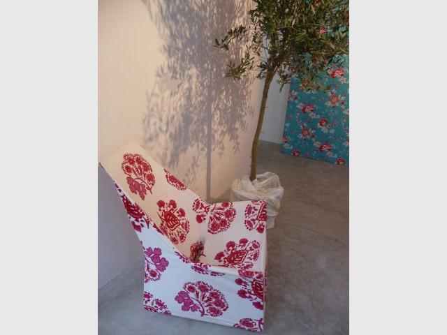 Un fauteuil - Textile Olivades