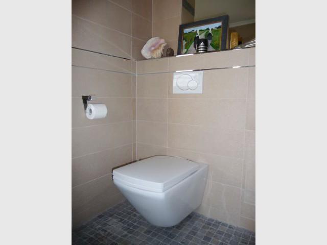 WC suspendu - reportage salle de bain