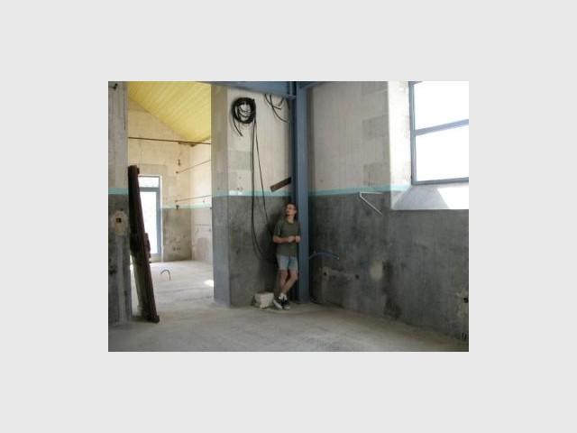 Salon avant travaux - Loft - Reportage