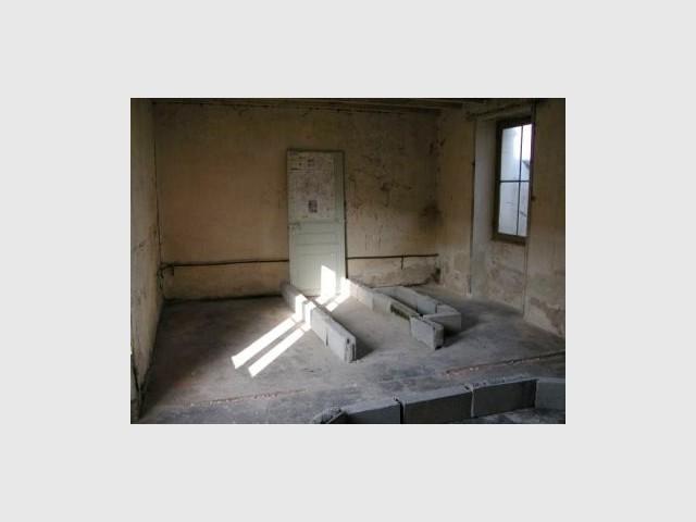 Salle de bains avant travaux - Loft - Reportage