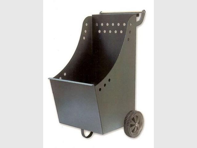 Chariot à bûches à roues