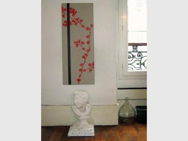 Tableau de cerisier - Exposition sur mesure Lettre d'Or