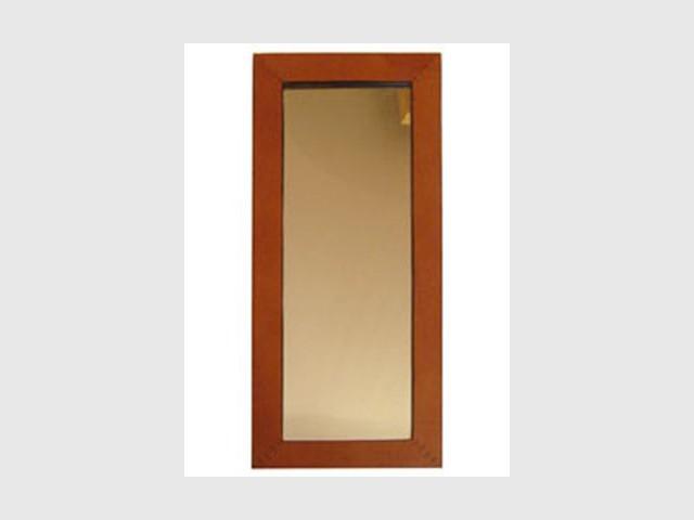 Miroir Eco Design Cuir - Objets en cuir