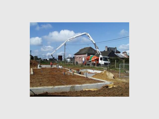 Construction fondations - Premières maisons Passivhaus - Les Airelles