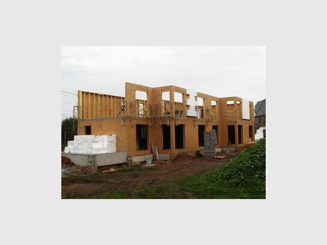 Murs extérieurs - Premières maisons Passivhaus - Les Airelles
