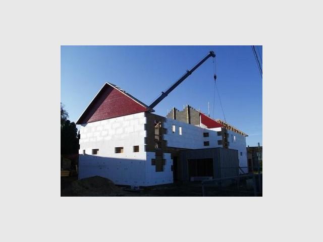 Toiture 1/2 - Premières maisons Passivhaus - Les Airelles