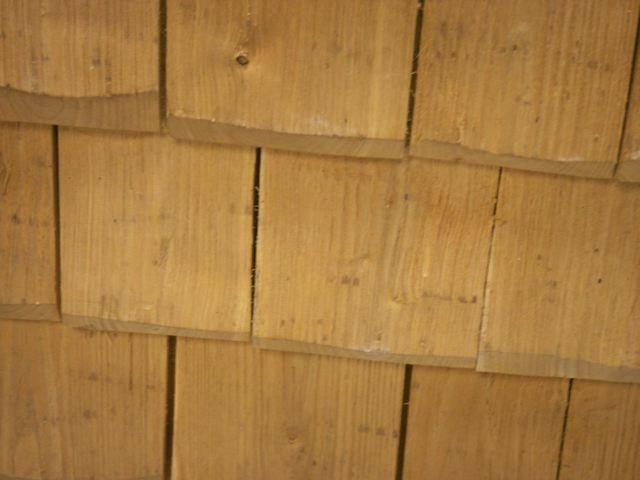 Tuiles en bois - Salon Bâtir écologique