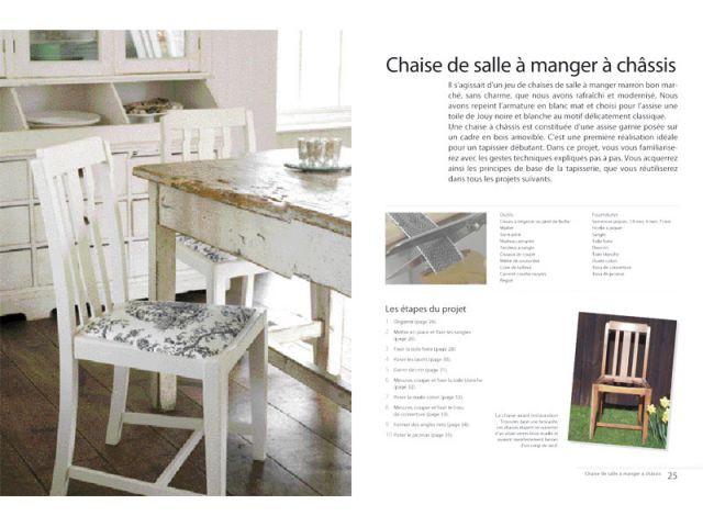 Chaise de salle à manger à châssis - Tapisserie de sièges
