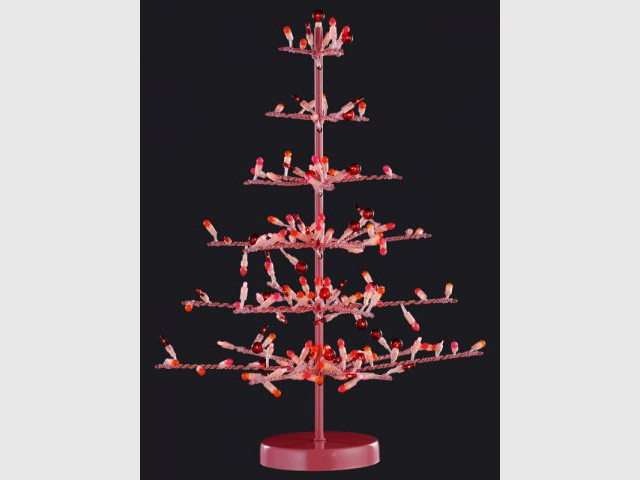 Sapin rouge - Guirlandes lumineuses