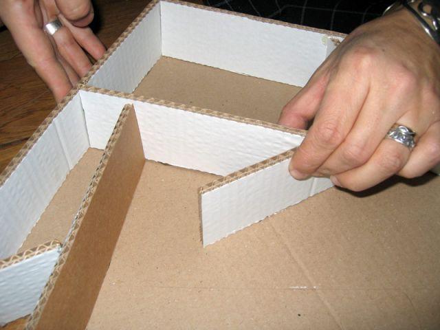 Effet graphique - Sapin en papier et carton