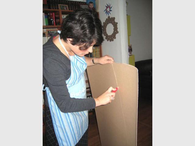 La sapin à bouclettes - Sapin en papier et carton