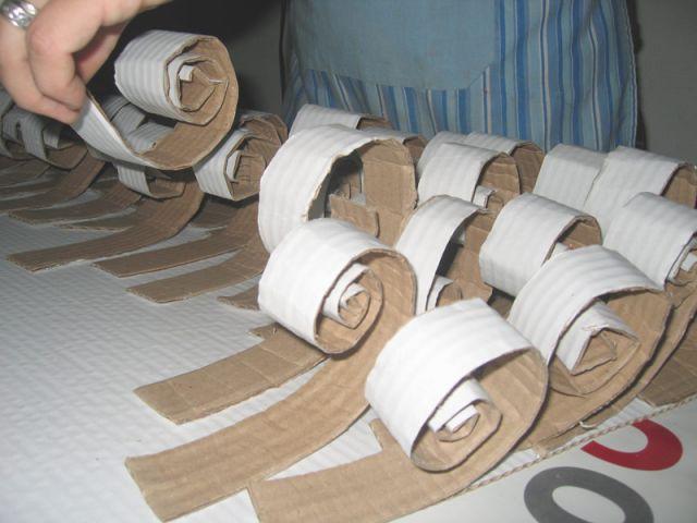 En quinconce - Sapin en papier et carton