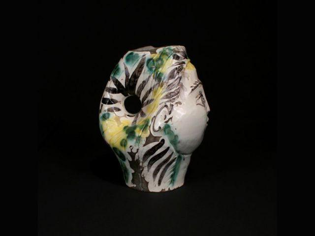 Tête de femme couronnée de fleurs (verso) - picasso céramiste