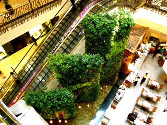 Centre commercial - Patrick Blanc - Le Mur Végétal
