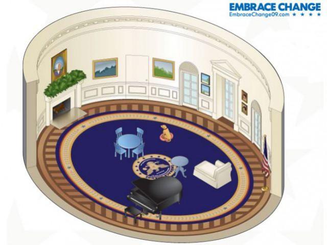 Meublez le bureau ovale de barack obama for Bureau ovale